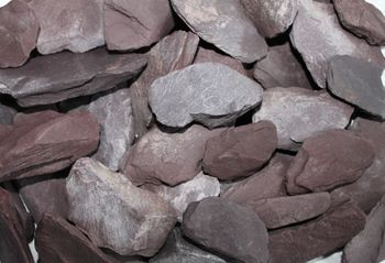 Decorative crushed stone, violet, 30-70 mm