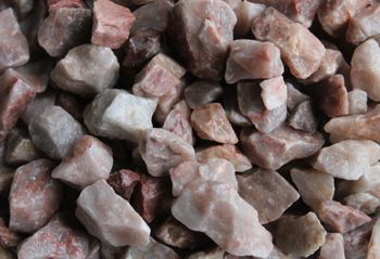 Decorative crushed stone, pink 4-8mm